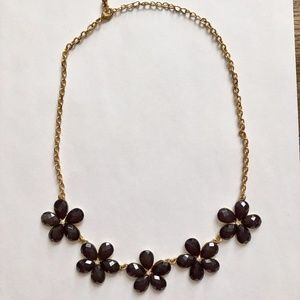 *2/$20* Aldo Flower Gem Necklace Gold Tone Chain